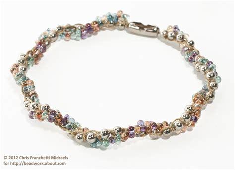 Make Macramé Cord Bracelet Patterns Home - make a beaded spiral chain bracelet or necklace