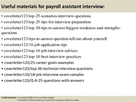 payroll assistant cover letter top 5 payroll assistant cover letter sles