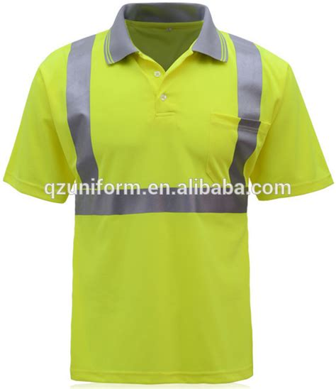 Buys Safer Shirt by Lime Green High Visibility Reflective Safety Construction