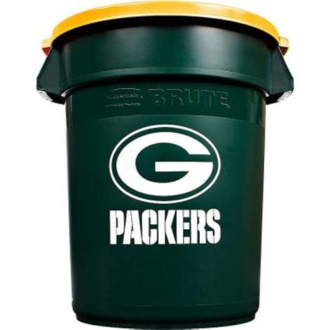 rubbermaid commercial products nfl brute 32 gal green bay