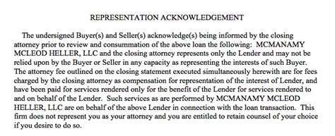 Closing Letter Representation Seller Side Closing Documents Guide