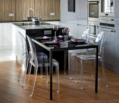 Kitchen Table Islands High Class European Kitchen Cabinets With Luxury Appliances