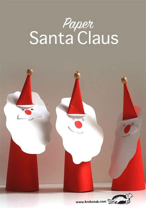 How To Make Paper Santa Claus - paper diy paper and paper craft for on