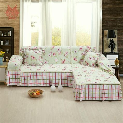 floral slipcovers for sofas free shipping pastoral style green floral print sofa cover