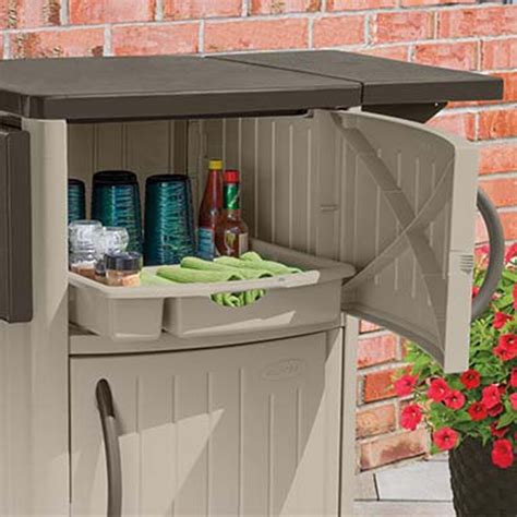 new suncast dcp2000 portable outdoor patio prep serving