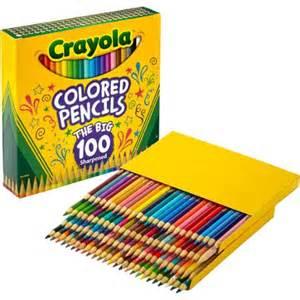 crayola 100 colored pencils crayola colored pencils 100 count walmart