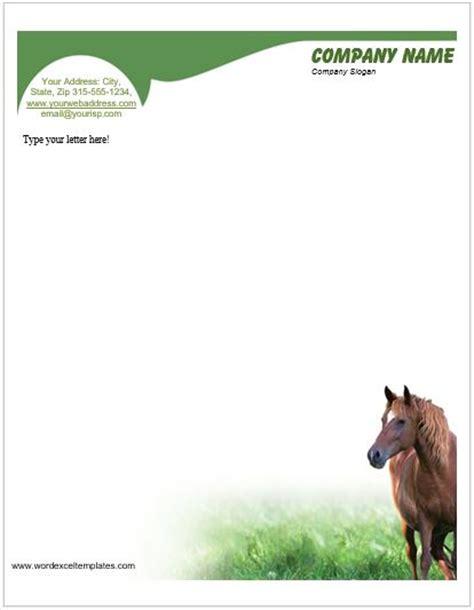 animal design letterhead templates  ms word word