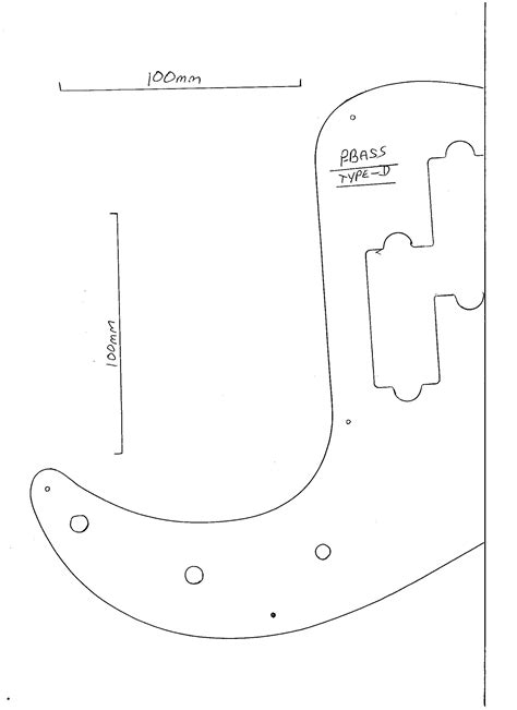 bass guitar template fender precision bass drawing