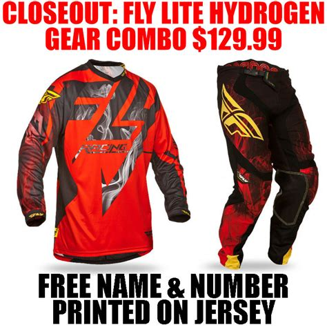 closeout motocross gear combos closeout fly racing lite hydrogen combo pro style mx