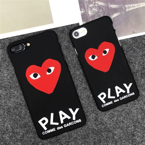 Iphone Cdg With Box luxury brand cdg play comme des garcons matte protect cases for iphone x 5s se 6s 6 7 plus