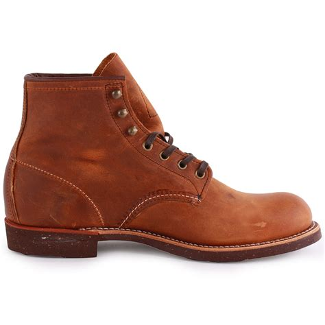 mens all leather boots wing blacksmith mens leather copper ankle boots new