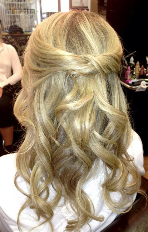 half up half down dance hairstyles loose curls curls and half up half down on pinterest