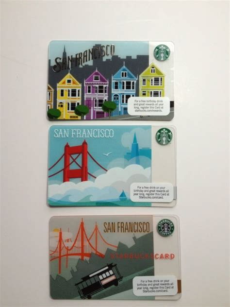 Starbuck Gift Card Value - starbucks san francisco gift card all 3 cards 200