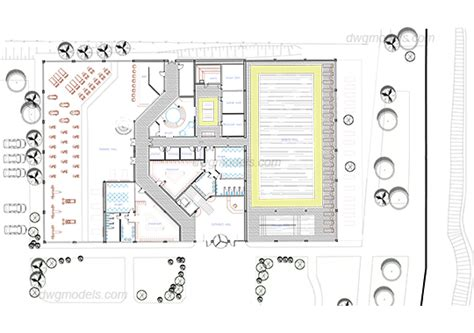 salon layout dwg wellness and spa complex dwg free cad blocks download