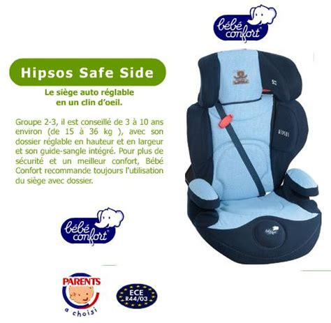 siege auto hipsos si 232 ges b 233 b 233 syst 232 me isofix installation critique