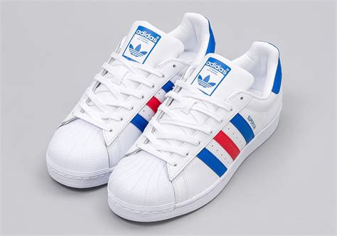color adidas adidas superstar white blue bb2246 sneakernews