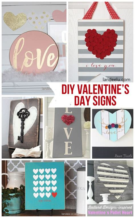 diy valentines day  love signs landeelucom