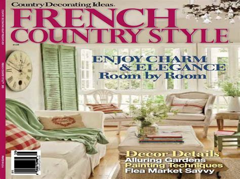 decoration magazine miscellaneous country french decor magazines french