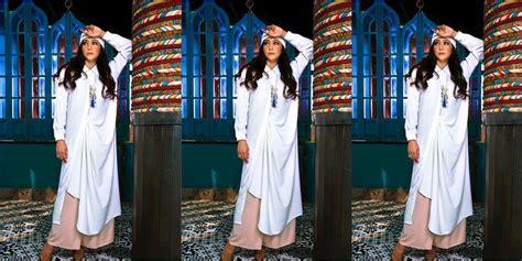 Pradita Tunik By makin cantik yuk intip gaya maia estianty kenakan tunik