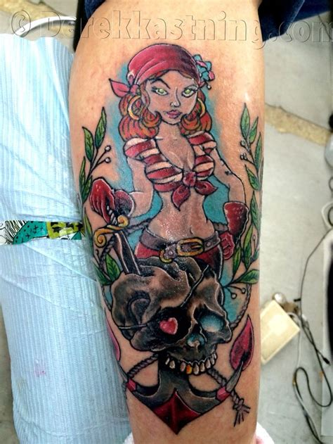 pirate girl tattoo best 25 pirate tattoos ideas on half