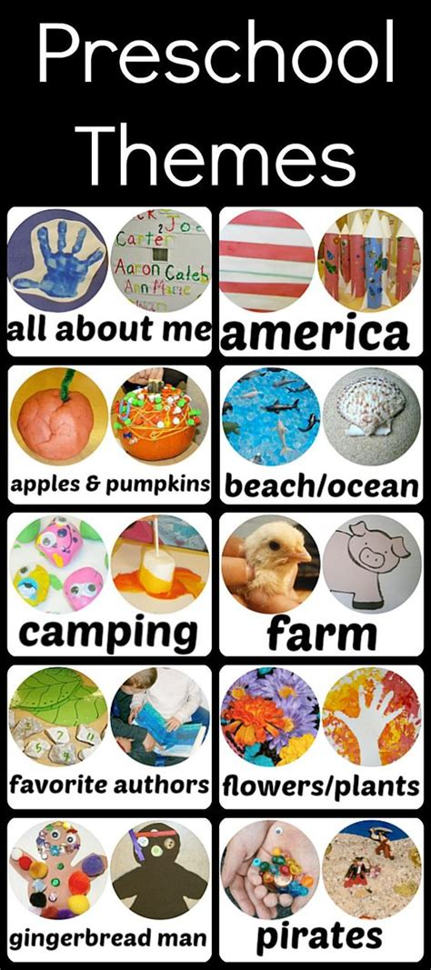 themes for kindergarten summer c early childhood preschool themes and childhood on pinterest