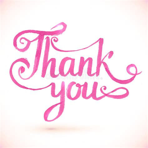 pink ribbon thank you card template pink vector thank you sign stock vector