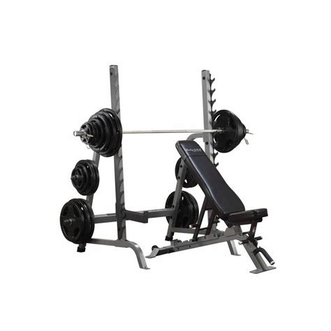 combo weight bench body solid sdib370 olympic bench rack combo