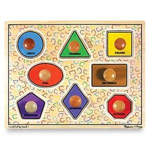 doug 174 wooden jumbo shapes knob puzzle buybuy baby