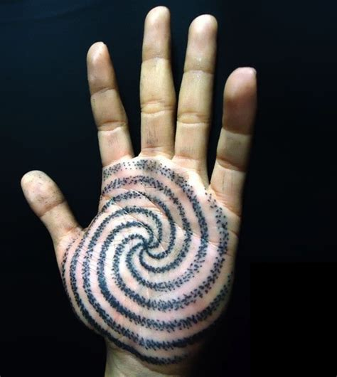 tattoo on palm of hand spiral on the palm of the ink tattoos that