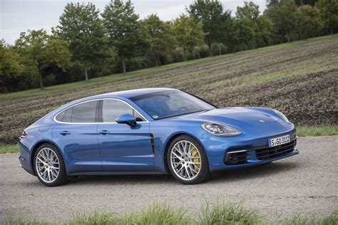 blue porsche panamera 2017 2017 porsche panamera explaining its new msb platform
