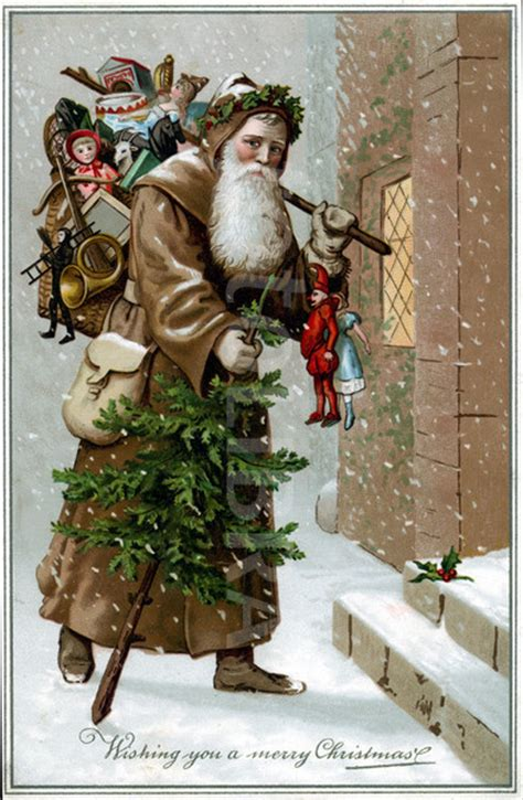 santa claus in brown robe