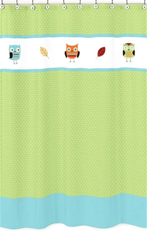 owl shower curtain bed bath and beyond turquoise and lime hooty owl kids bathroom fabric bath