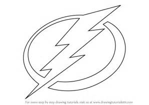 How To Draw The Logo Learn How To Draw Ta Bay Lightning Logo Nhl Step By
