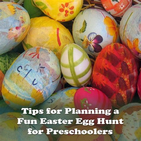 have a preschool easter egg hunt tips ideas