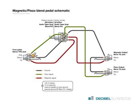 guitar volume pedal wiring diagram circuit and