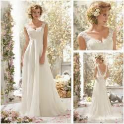 sleeve white lace wedding dress new white lace cap sleeve a line floor length wedding