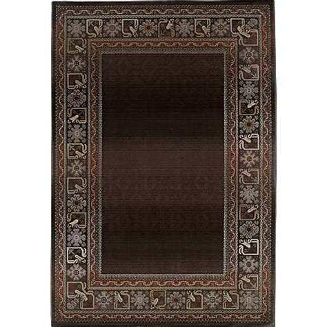fall area rugs fall border brown area rug 41234 ls plus