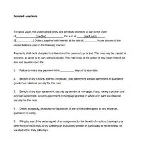 Loan Note Template loan note template 8 free word pdf documents