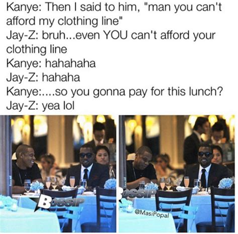 Kanye And Jay Z Meme - social media makes fun of kanye west s debt claim hiphopdx
