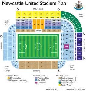 stadium plan newcastle united fc journey planner