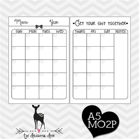 61 best filofax and free printables images on pinterest 7 best images of filofax pages pdf printable personal