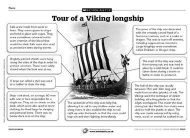viking longboats ks2 tour of a viking longship primary ks2 teaching resource