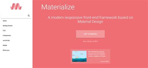 Design Framework In Java | the best 15 material design framework to facilitate web