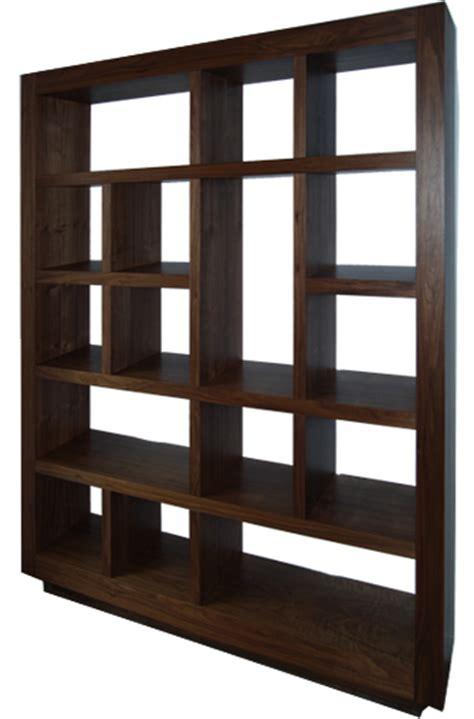american black walnut wall unit bespoke bookcase