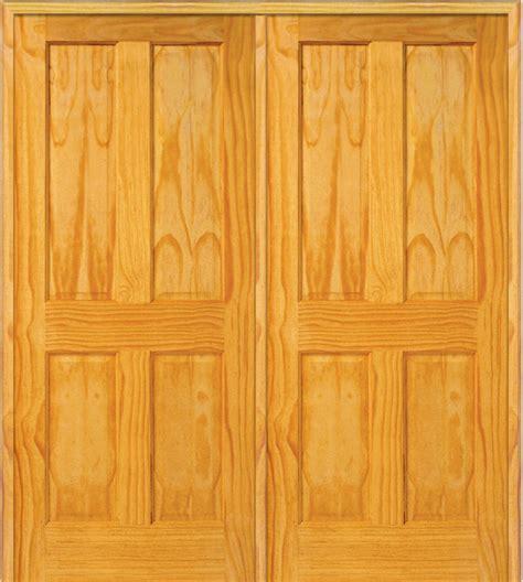 Shop Houzz Masonite 4 Panel Pine Interior Double Door Exterior Door Astragal