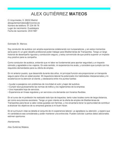 Modelo Curriculum Transportista Modelo De Carta De Presentaci 243 N Conductor De Autob 250 S Conductor De Autob 250 S Ejemplo Livecareer