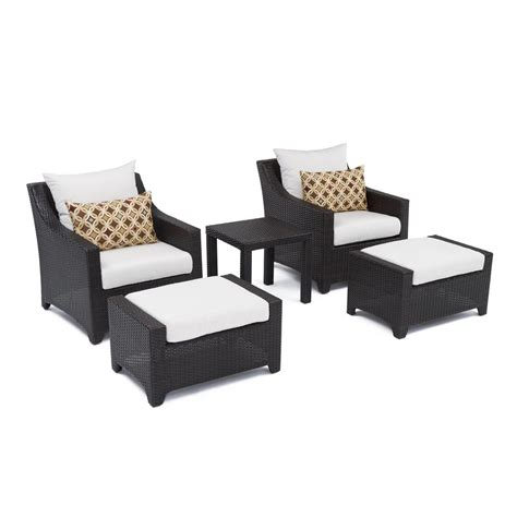 patio chair and ottoman set rst brands deco 5 piece patio club chair and ottoman set