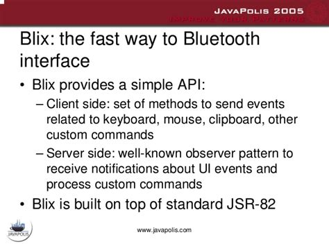 ui observer pattern bluetooth remote interface for java me