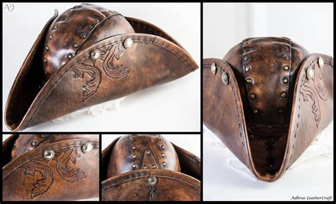 How To Make A Paper Tricorn Hat - leather tricorn hat by adhras on deviantart