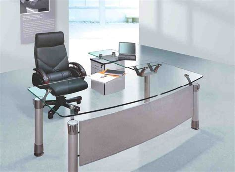 Glass Home Office Desks Glass Office Desk Furniture Decor Ideasdecor Ideas
